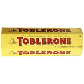 Toblerone 6 Packs of 100gms Swiss Chocolates, Free ChoocKick Eco Friendly Pen