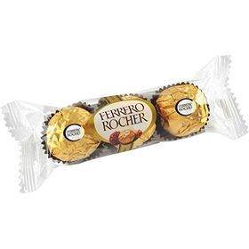 Ferrero Rocher Hazelnut Chocolates, 3 pcs (pack of 2)