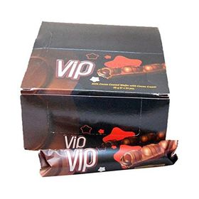 VIP Cream Milk Chocolate COMPOUND Chocolate Box of 24 Chocolates, Free ChoocKick Eco Friendly Pen