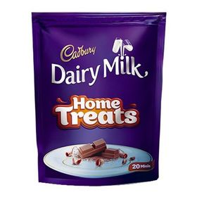 Cadbury Dairy Milk Chocolate Home Treats Pack, 140g (Pack of 20)