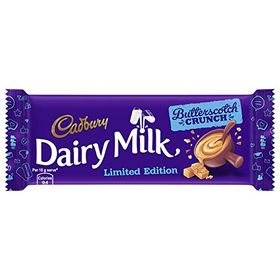 Cadbury Dairy Milk Butterscotch Crunch Chocolate, 36g (Pack of 12)