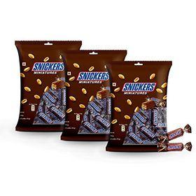 Snickers Chocolate Miniatures, 150g (Pack of 3)