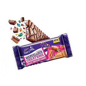 CADBURY DAIRY MILK MARVELLOUS CREATIONS JELLY POPPING CANDY 4 x 75GM (PACK OF 4)
