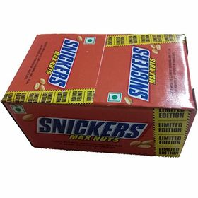 Snickers Max Nuts Chocolate Box 24 Pcs