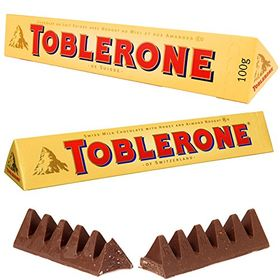 Toblerone 2 Packs of 100gms Swiss Chocolates, Free ChoocKick Eco Friendly Pen
