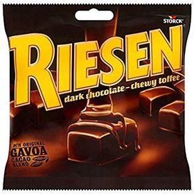 Storck Riesen Dark Chocolate Chewy Toffee Pouch, 270g