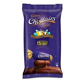Cadbury Choclairs Gold Birthday Pack, 655.5g (Pack of 100 with Free 15 Pieces)