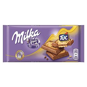 Milka Chocolate Tuc Cracker, 87g