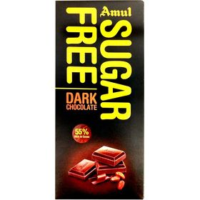 Amul Sugar Free Dark Chocolate Bars  (150 g)