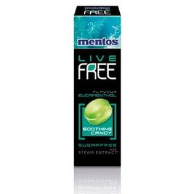 Mentos Live Free Eucamenthol Flavour Hard Candy Sugar Free Sweetened with Stevia Extract, 33g