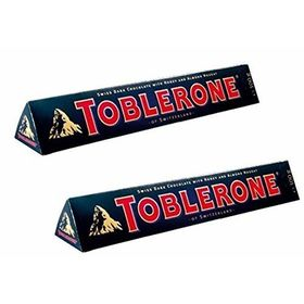 Toblerone Dark 2 Packs of 100gms Swiss Chocolates
