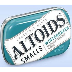 Altoids Smalls Wintergreen Mints Sugar Free (pack of 2), 10.5g