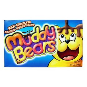 Muddy Bears Milk Chocolate Covered Gummi Bears Box, 88g