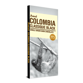 Amul Colombia Classique Black Single Origin Dark Chocolate Bars  (125 g)