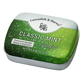 Cavendish & Harvey Classic Mint Sugar Free 50 Mints, 14g