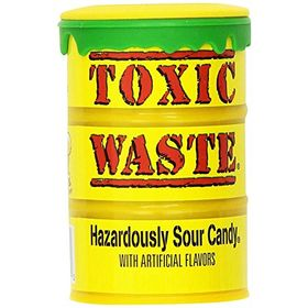 Candy Dynamics Toxic Waste Hazardously Sour Candy Bottle, 42g