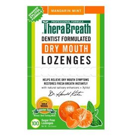 TheraBreath Dry Mouth Mandarin Mint Wrapped Lozenges, 100 count, 165 g