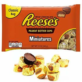 Hershey'S Reese'S Milk Chocolate Peanut Butter Cups Miniatures - 340G Bag