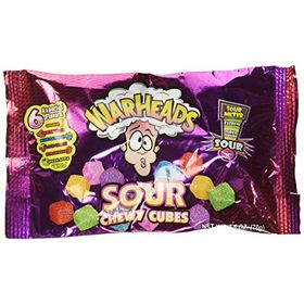 Warheads Chewy Cubes Candy Packet, 70g