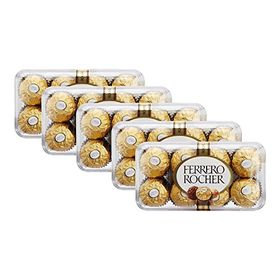 Ferrero Rocher, T16 (Pack of 5), Free ChoocKick Eco Friendly Pen