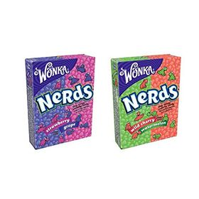 Wonka Nerds Strawberry Grape & Wild Cherry Watermelon 46.7g (Combo Pack of 4)