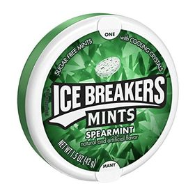 Ice Breakers Sugar Free Mint With Cooling Crystal, Spearmint, 42g (Pack Of 2)