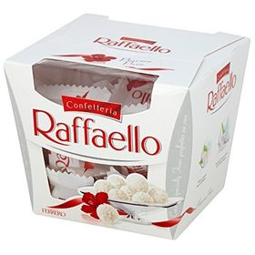 Ferrero Rocher Raffaello Coconut And Almond White Chocolate Truffles, 15 Piece Box