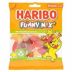 Haribo Funny Mix Gummy Candy, 140g