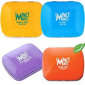 Impact Products Mints (Pack of 4, Mango, Ice Mints, Black Currant, Orange), 14gms with ChoocKick Eco Friendly Pen