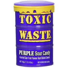 Candy Dynamics Toxic Waste Purple Sour Candy, 42g
