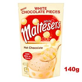 Maltesers White Chocolate Pieces Hot Chocolate Drink Mix Packet, 140g