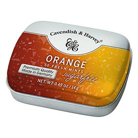 Cavendish & Harvey Orange Sugar Free 50 Mints, 14g