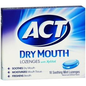 ACT Total Care Dry Mouth Lozenges Mint (4 x 18 ea)