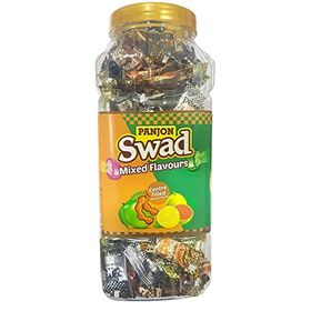 Swad Original and Swad Mixed Candies, Kaccha Aam, Imli, Lemon and Guava, 300 Candies