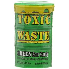 Candy Dynamics Toxic Waste Green Sour Candy, 42g