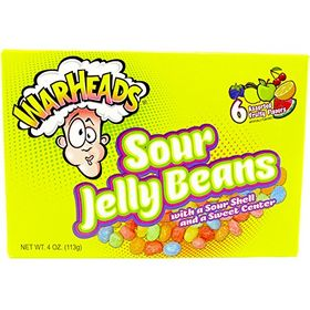 Warheads Sour Jelly Beans 6 Assorted Fruity Flavors (113g)