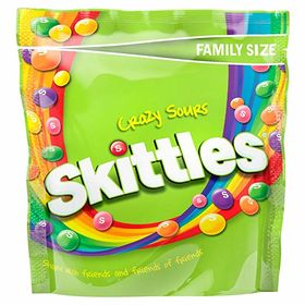 Skittles Crazy Sour Candy Packet, 196g