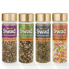 Panjon Swad Mouth Freshener (Coloured Saunf, Royal Fresh Mix, Roasted Saunf & Shahi Navratan Mix)(Combo of 4), 435 gm