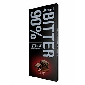 Amul Bitter 90% Dark Chocolate Bars  (150 g)