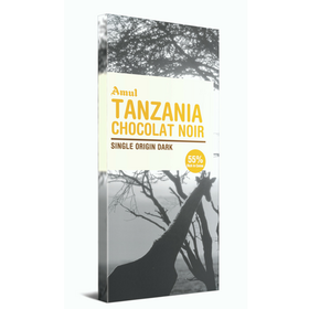 Amul Tanzania Chocolate Noir Single Origin Dark Chocolate Bars  (125 g)