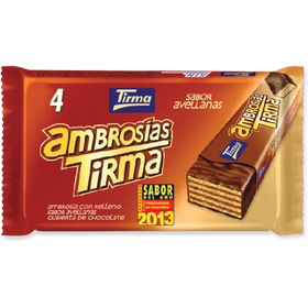 Tirma Made in Spain Ambrosia Wafers Hazelnuts 86g