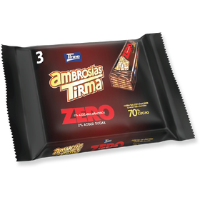 Tirma Made in Spain Ambrosia Zero 70% Cocoa No Sugar Added Chocolates