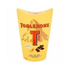 Toblerone Tiny White Milk Dark Swiss Chocoate with Honey & Almond Nougat, 160g