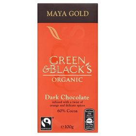 Green & Blacks Organic Maya Gold Dark Chocolate 60% Cocoa, 100g
