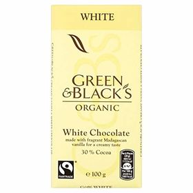 Green & Black's Organic White Chocolate 30% Cocoa, 100g