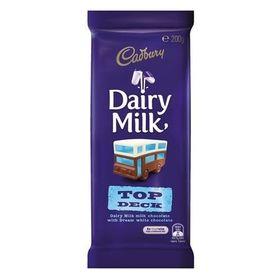 Cadbury Dairy Milk Top Deck Milk Chocolate Bar, 200g
