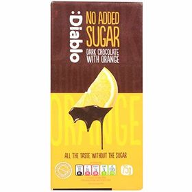 Diablo No Added Sugar Orange with Dark Chocolate Bar, 75g