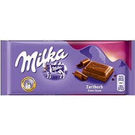 Milka Zartherb Fine Dark Chocolate Bar - 100g