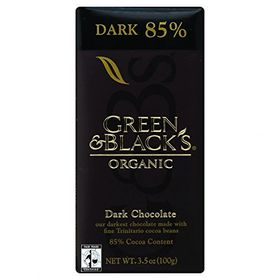 Green & Black's Organic Dark Chocolate, 85% Cacao, 3.5 Oz