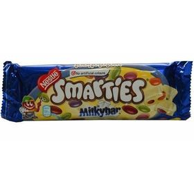 Nestle Smarties in Milky Bar with Creamy White Confection, 80g